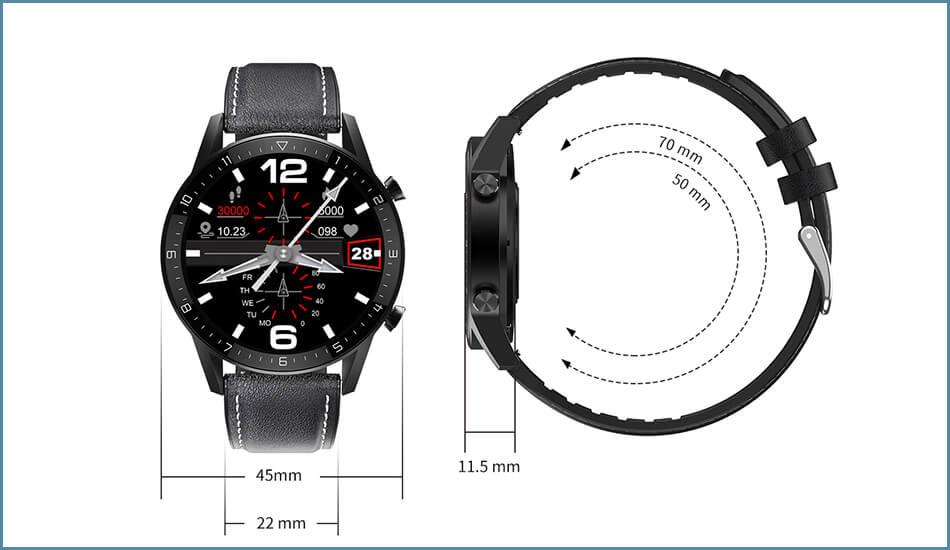 Smartwatch-Zegarek-meski-DT92-w-kolorze-srebrnym-4045-2