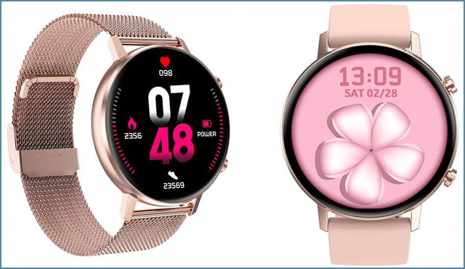 Smartwatch-Zegarek-damski-DT96-Rose-Gold-2